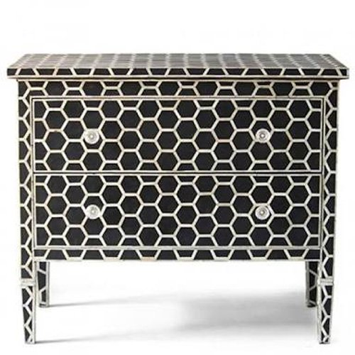 Noire Hexadic Bone Inlay Chest of Drawers
