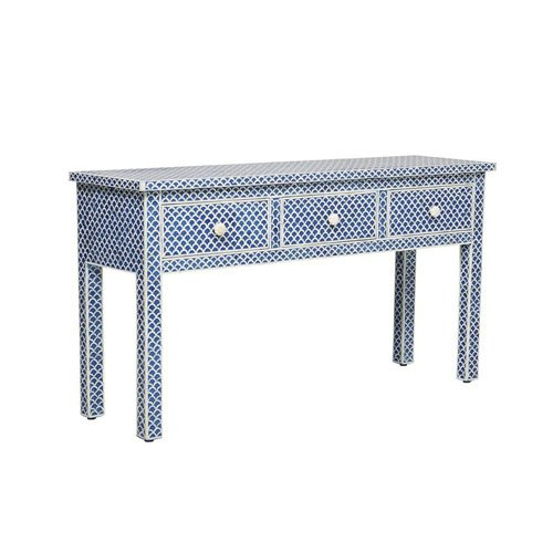 Blue Fish Scales Beauty Bone Inlay Console Table | Sideboard