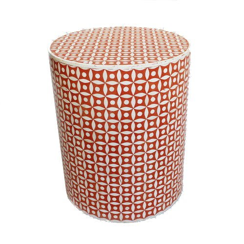 Rouge Grids Bone Inlay Bedside Table