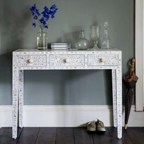 Neutral Charm Mother of Pearl Console/Dresser