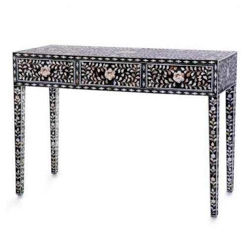 Luxurious Foliage Mother of Pearl Inlay Console / Dresser