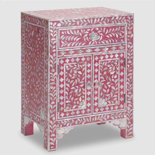 Rouge Mother of Pearl Bedside Drawer