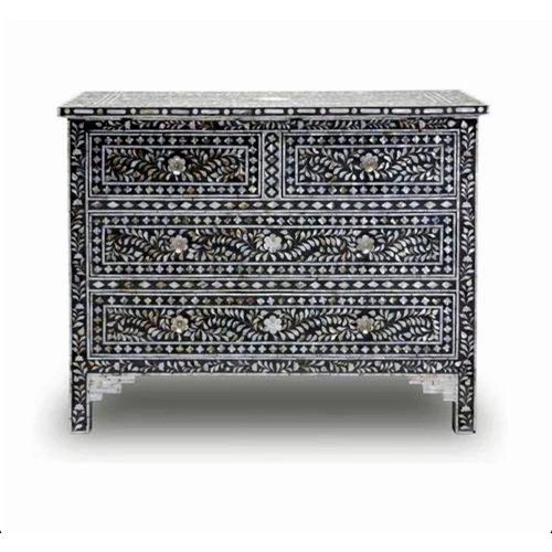 Gray Allure Mother of Pearl Chest of Drawer