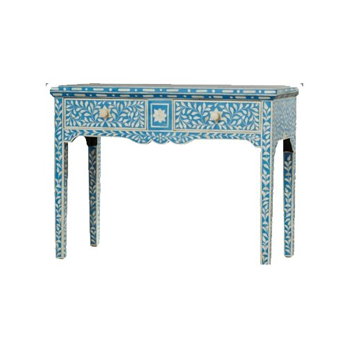 Aquamarine Beauty Bone Inlay Console Table | Sideboard