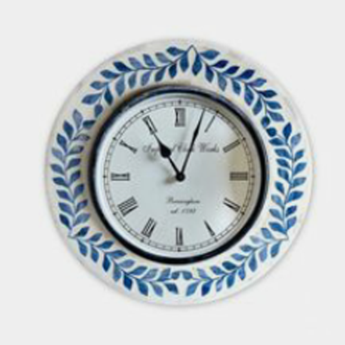 Foliage Bone Inlay Wall Clocks