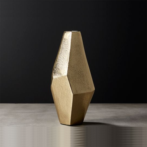 Hexadic Fluted Metal Vase