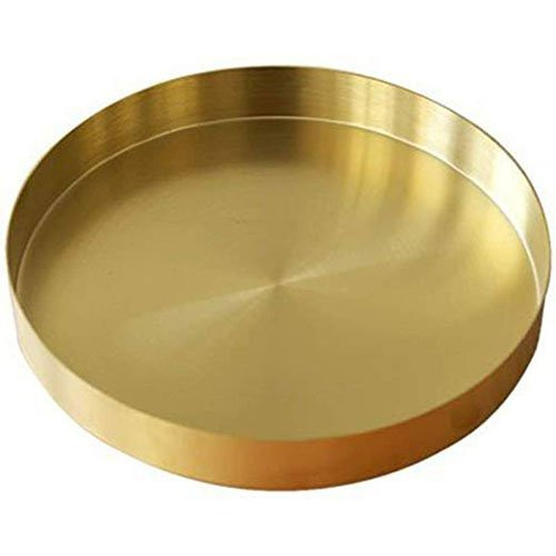 Plain Pure Round Brass Tray