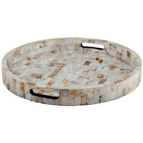 Round Classy Mother of Pearl Tray