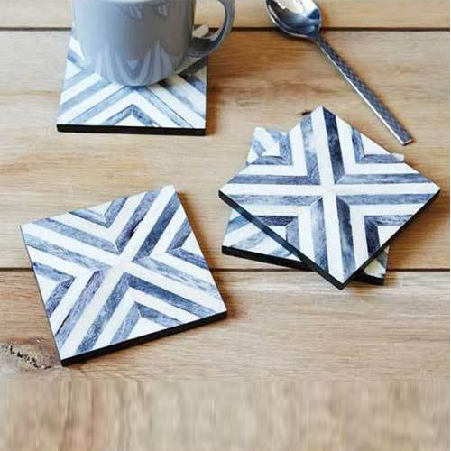 Chevron Bone Inlay Coasters
