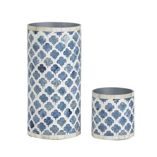 Moroccan Artwork Bone Inlay Vase