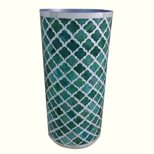Moroccan Green Bone Inlay Vase