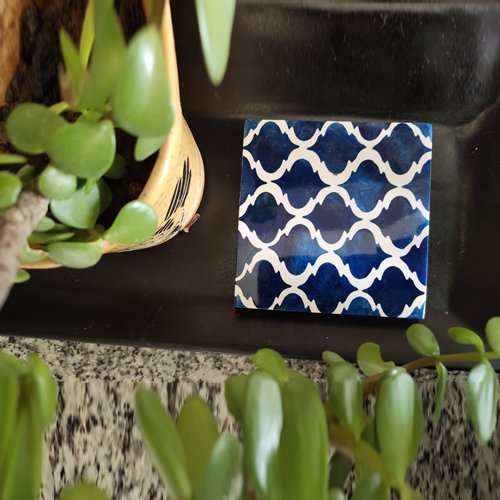 Moroccan Grids Resin Coasters
