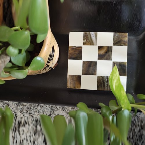 Checkered Resin Coasters