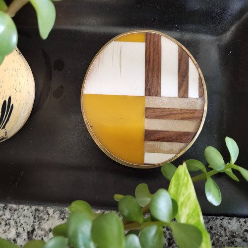 Round Colorful Resin Coasters