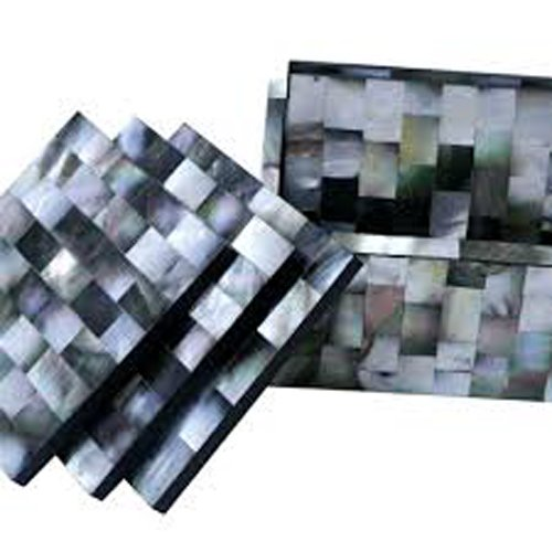 Black Marble Mother of Pearl Coasters