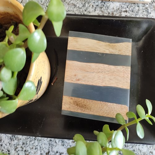 Stripes Wooden Coasters