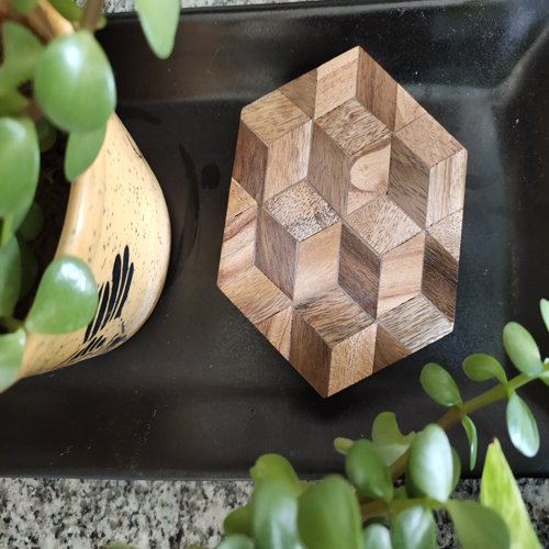Hexadic Wooden Coasters