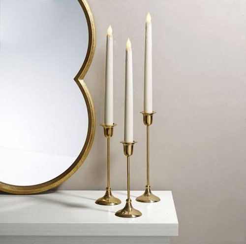 Petite Brass Candle Holder