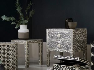 Traditional Art Revival with Bone Inlay furniture