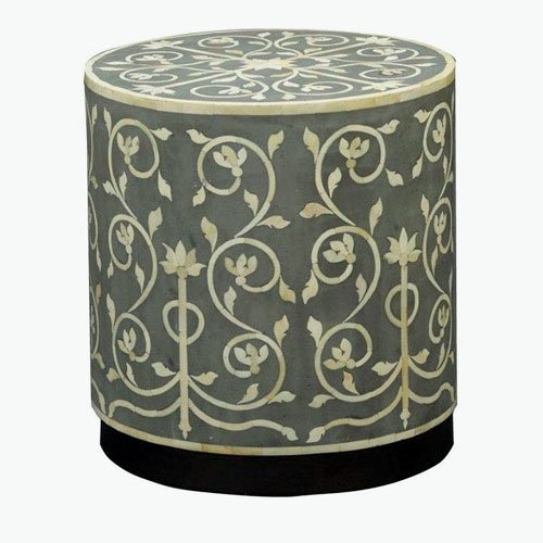Floral Bone Inlay Nightstand