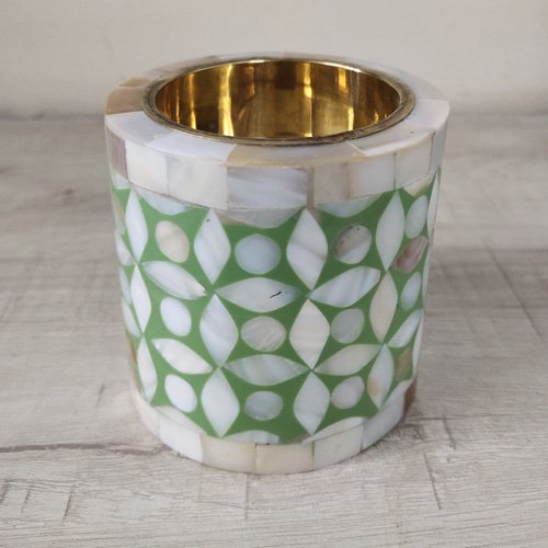 Mother of Pearls Candle Holder