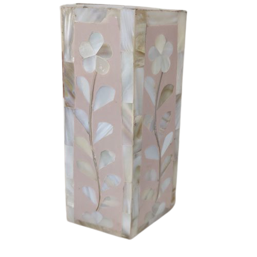Baby Pink Mother of Pearl Candle Holder