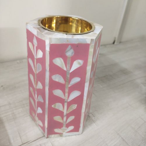 Magenta Passion Mother of Pearl Candle Stands