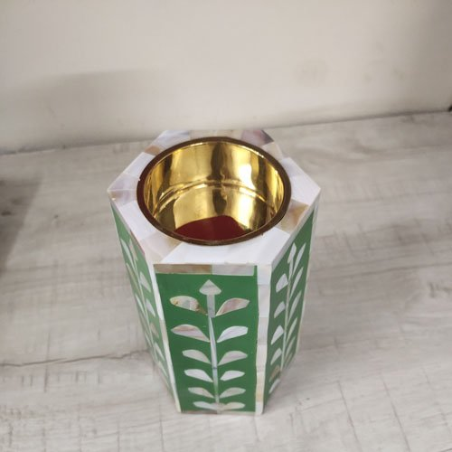 Green Beauty Mother of Pearl Candle Holder