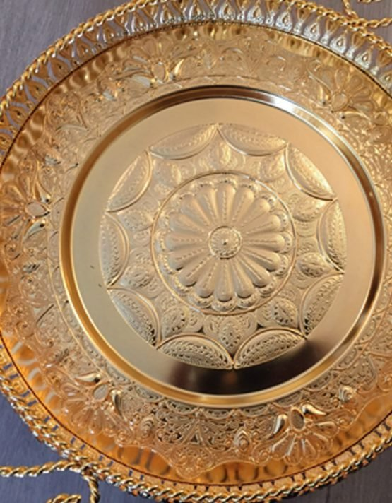 Regal Engraved Round Tray with Handle