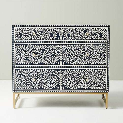Bone Inlay Chest of Drawers
