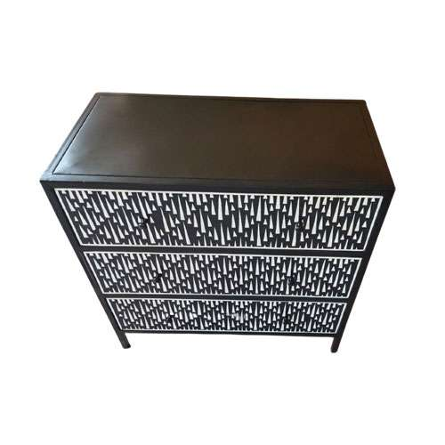 Noire Geo Bone Inlay Chest of Drawers