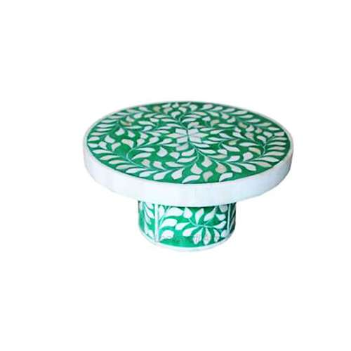 Round Bone Inlay Cake Stand