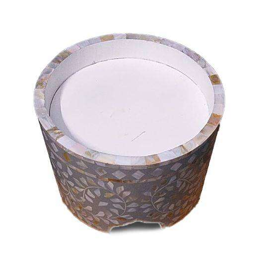 Mother Of Pearl Round Cake Stand