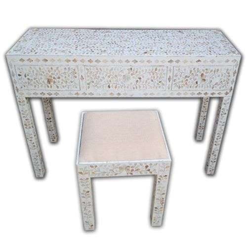 mother of pearl console table uk